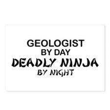 Geologist Deadly Ninja by Night Postcards (Package