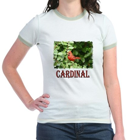 Northern Cardinal Jr. Ringer T-Shirt