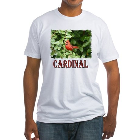 Northern Cardinal Fitted T-Shirt