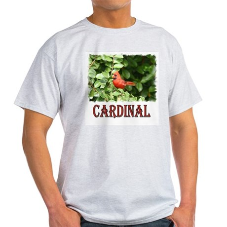 Northern Cardinal Ash Grey T-Shirt