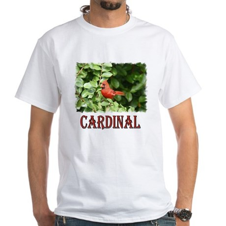 Northern Cardinal White T-Shirt