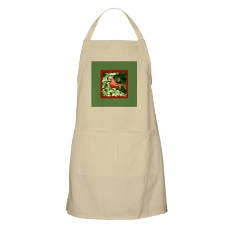 Beautiful Cardinal Red Bird BBQ Apron