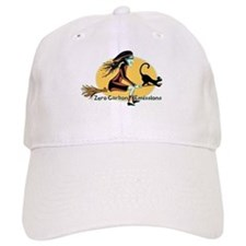 Flying Green Witch Baseball Cap