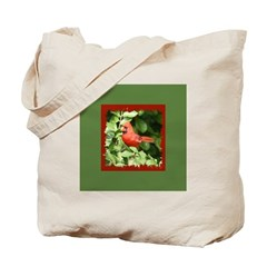 Beautiful Cardinal Red Bird Tote Bag