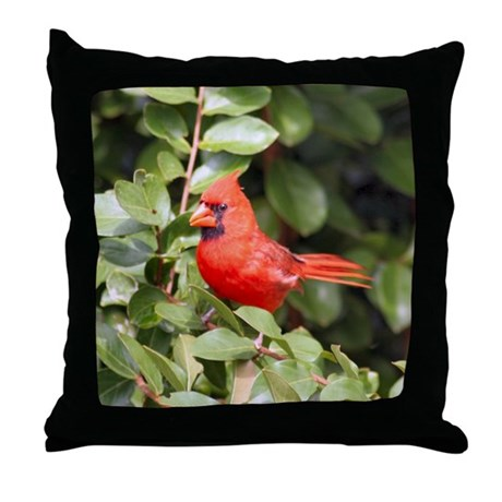 Beautiful Cardinal Red Bird Throw Pillow