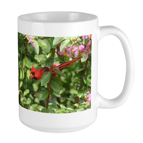 Beautiful Cardinal Red Bird Large Mug