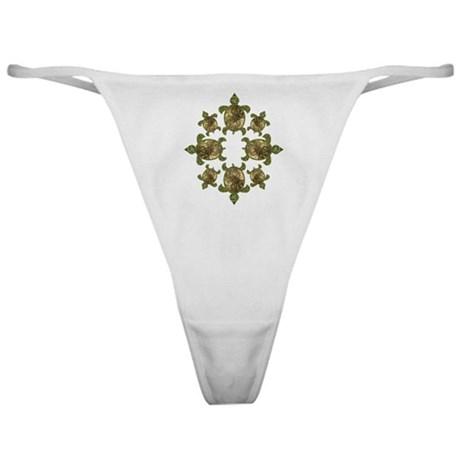 Garden Turtles Classic Thong