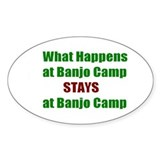 Banjo Camp Oval Decal