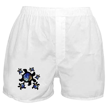Earthly Turtles Boxer Shorts