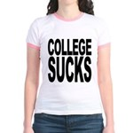 College Sucks Jr. Ringer T-Shirt