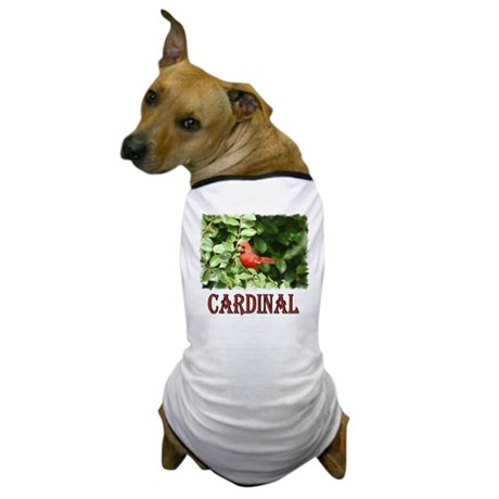 Northern Cardinal Dog T-Shirt