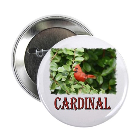 "Northern Cardinal 2.25"" Button (10 pack)"