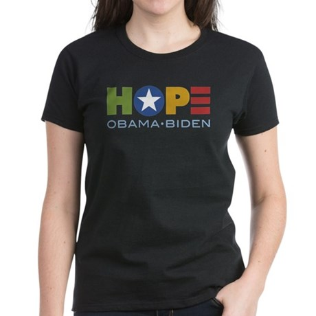 HOPE Obama Biden Women's Dark T-Shirt