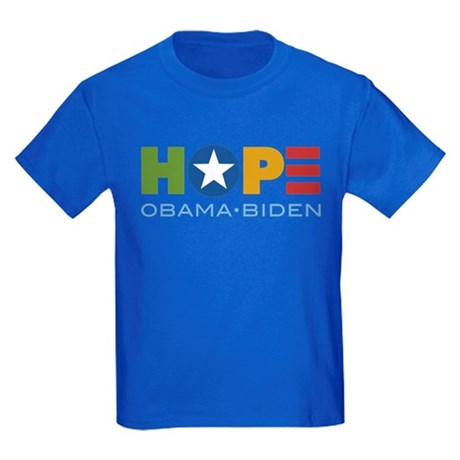 HOPE Obama Biden Kids Dark T-Shirt