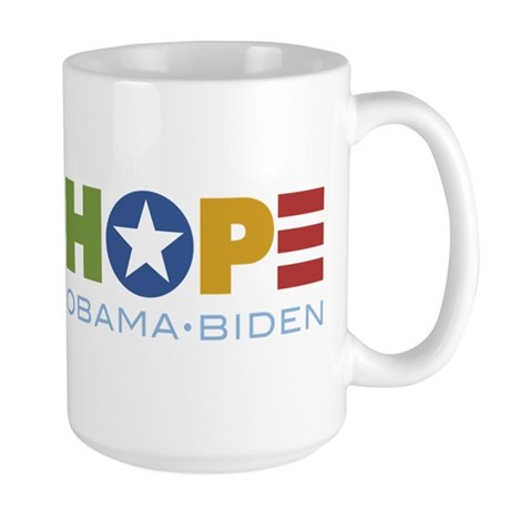 HOPE Obama Biden Large Mug
