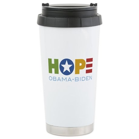 HOPE Obama Biden Ceramic Travel Mug