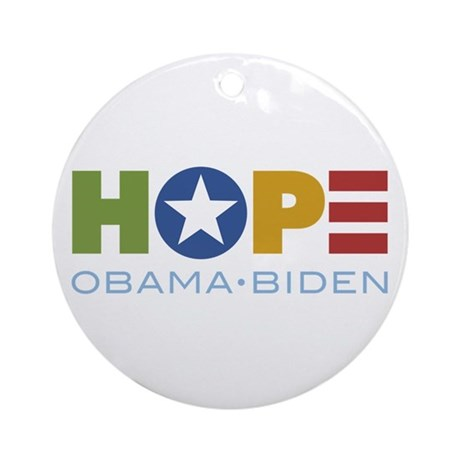 HOPE Obama Biden Ornament (Round)