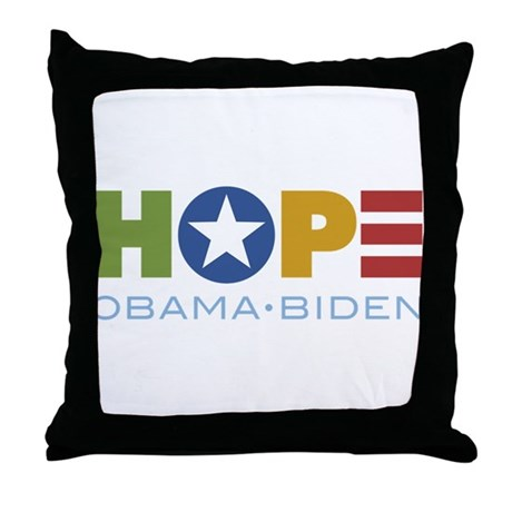 HOPE Obama Biden Throw Pillow