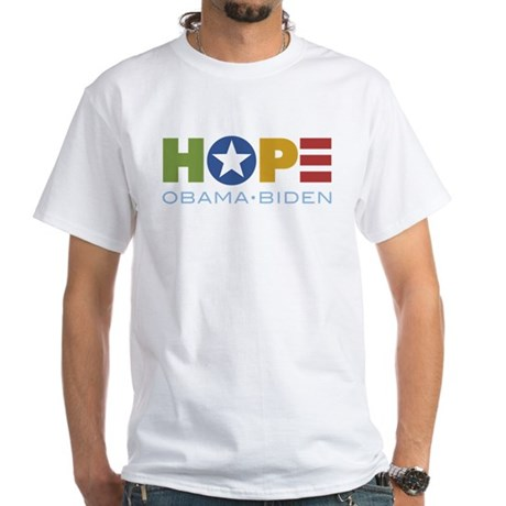HOPE Obama Biden White T-Shirt