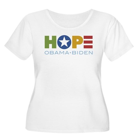 HOPE Obama Biden Women's Plus Size Scoop Neck T-Sh