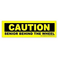 Caution Senior Behind The Wheel (Sticker)