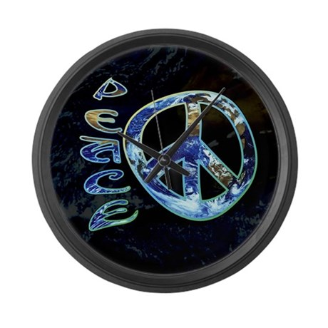 Earth Peace Large Wall Clock