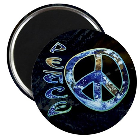 "Earth Peace 2.25"" Magnet (100 pack)"