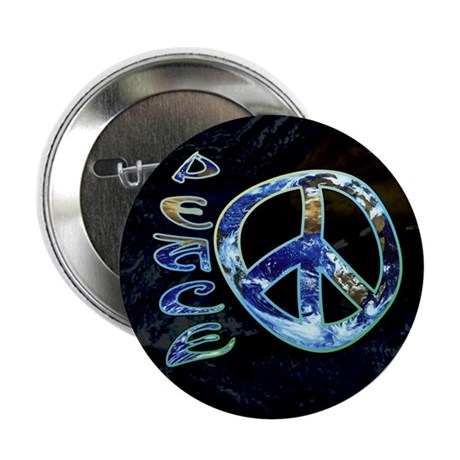 "Earth Peace 2.25"" Button (100 pack)"