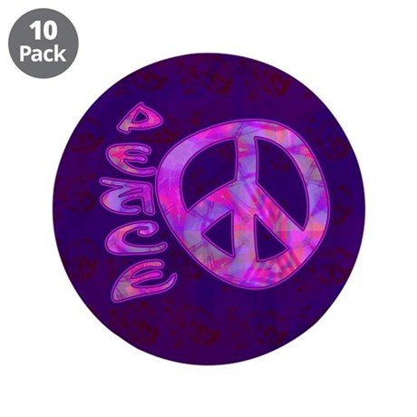 "Pink Peace 3.5"" Button (10 pack)"