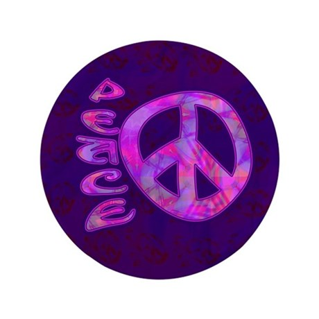 "Pink Peace 3.5"" Button"