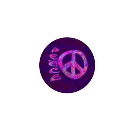 Pink Peace Mini Button