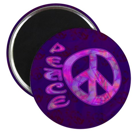 "Pink Peace 2.25"" Magnet (10 pack)"