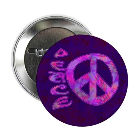 "Pink Peace 2.25"" Button (10 pack)"