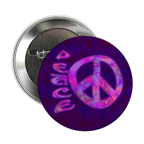 "Pink Peace 2.25"" Button"