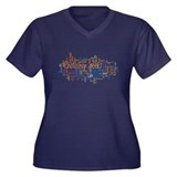 Photoshop Geek Women's Plus Size V-Neck Dark T-Shi