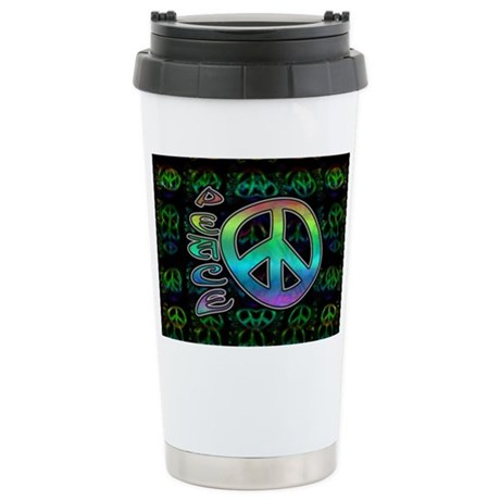 Rainbow Peace Ceramic Travel Mug