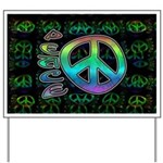 Rainbow Peace Yard Sign