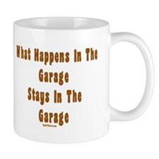 What Happens In Garage Dad Mug