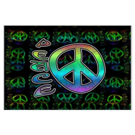 Rainbow Peace Large Poster