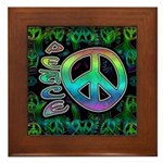 Rainbow Peace Framed Tile
