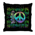 Rainbow Peace Throw Pillow