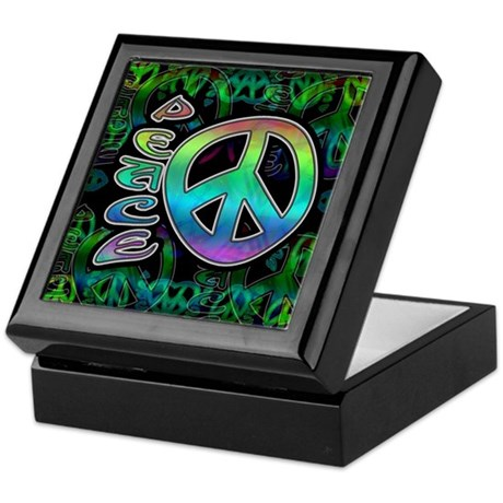 Rainbow Peace Keepsake Box
