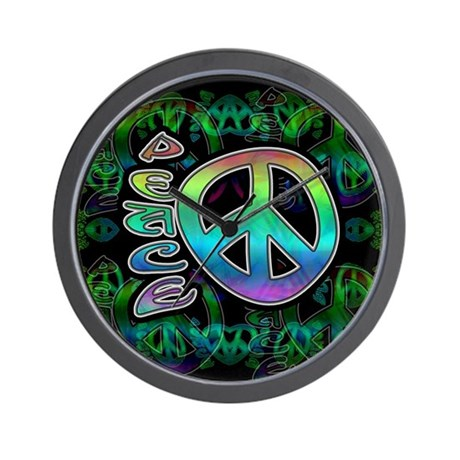 Rainbow Peace Wall Clock