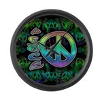 Rainbow Peace Large Wall Clock