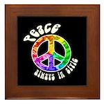 Peace Always in Style Framed Tile