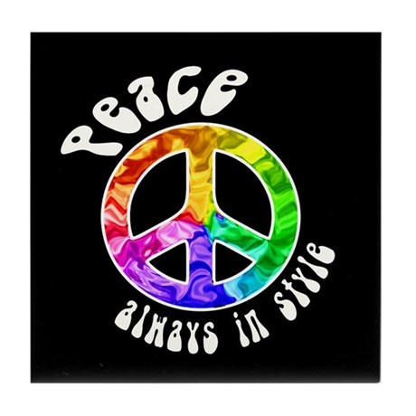 Peace Always in Style Tile Coaster