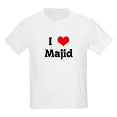 I Love Majid Kids Light T-Shirt