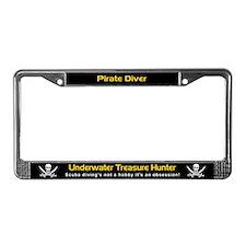 Pirate Diver, Treasure Hunter, License Plate Frame