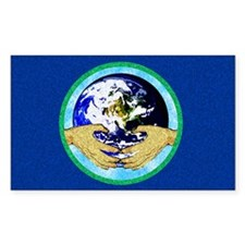 Precious Earth Rectangle Sticker 50 pk)