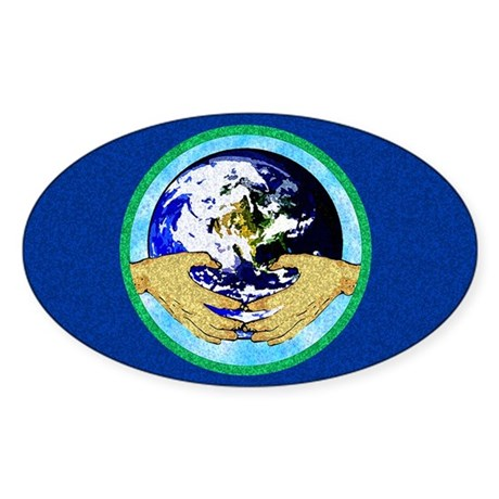 Precious Earth Oval Sticker